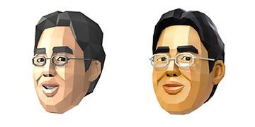 川岛教授的多边形模型。DS版(左)和Switch版(右)。